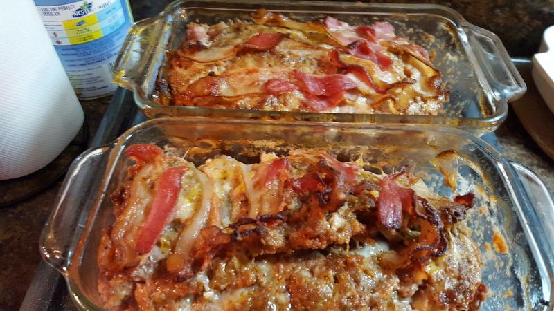 Pains de viande poireaux, bacon et fromage(donne 2) 20170111