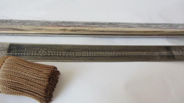 Sabre du 69ème régiment d'artillerie de campagne à lame gravée Img_6171