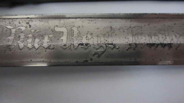 Sabre du 6ème cuirassier à lame gravée Img_6222