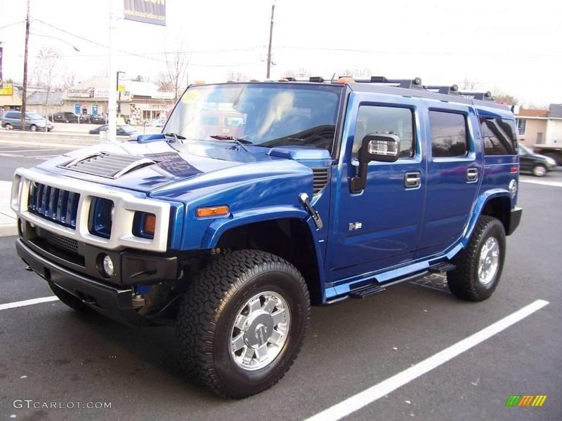 Connaissiez vous le Hummer H2 2006 Pacific Blue SUV ? vue par le Club Hummerbox cette édition très limitée 70431810