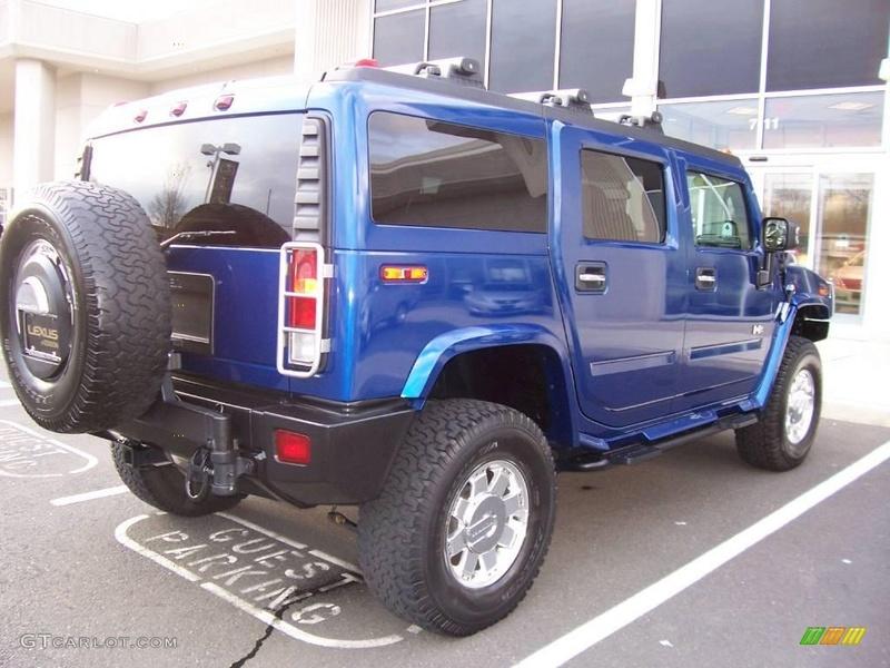 Connaissiez vous le Hummer H2 2006 Pacific Blue SUV ? vue par le Club Hummerbox cette édition très limitée 70431911