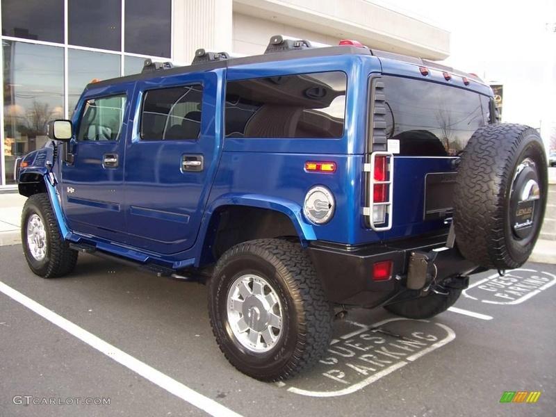 Connaissiez vous le Hummer H2 2006 Pacific Blue SUV ? vue par le Club Hummerbox cette édition très limitée 70432011