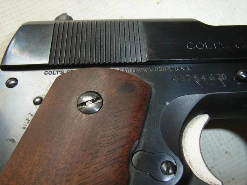 identification marquage colt 1911 series 70 10