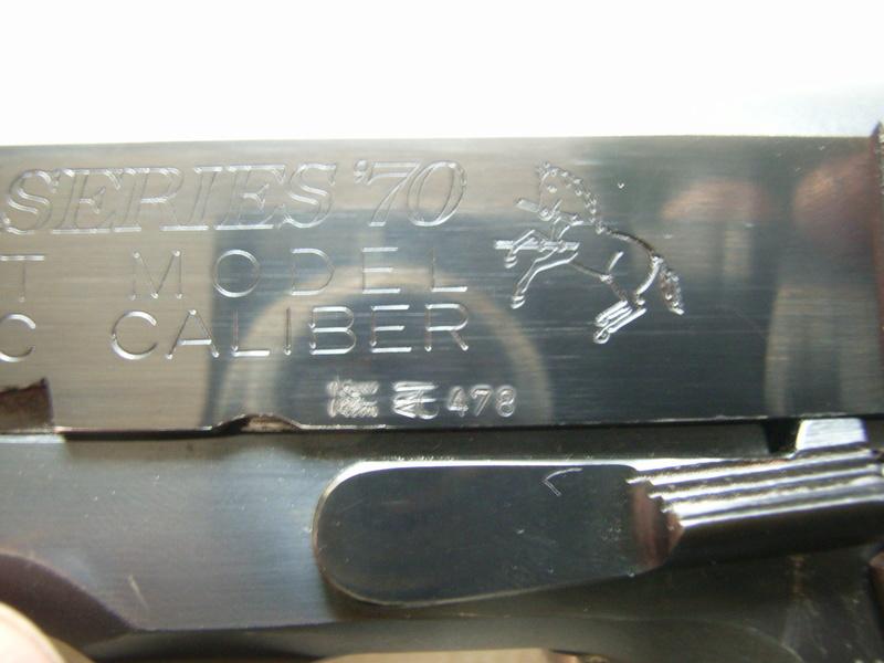 identification marquage colt 1911 series 70 R0032110
