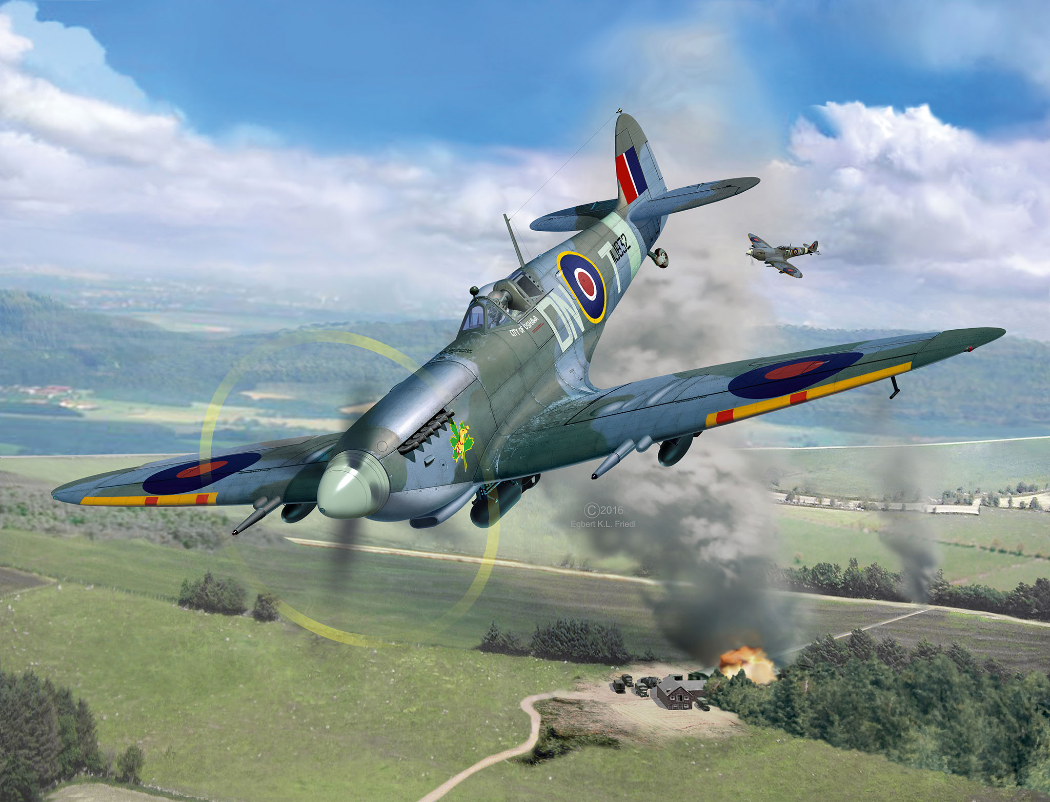 Spitfire MK.IXc 1/32 TECHNIK 00457_10