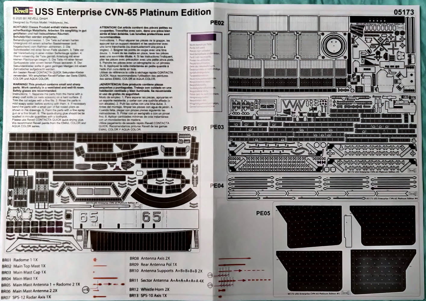 USS Enterprise (CVN-65) 1/400 PLATINUM Edition Cvan-665