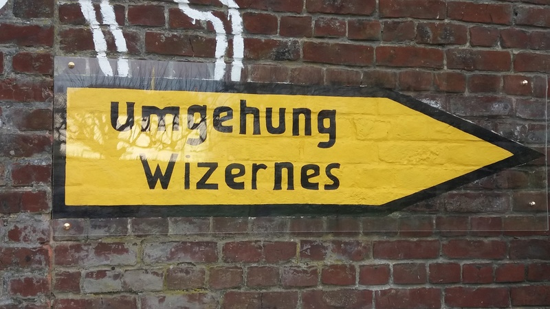 Reste d'un panneau allemand dans le secteur de lumbres 20161210