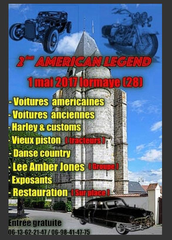 2ème Rassemblement American Legend , voitures et motos anciennes à LORMAYE 28.  Captur10