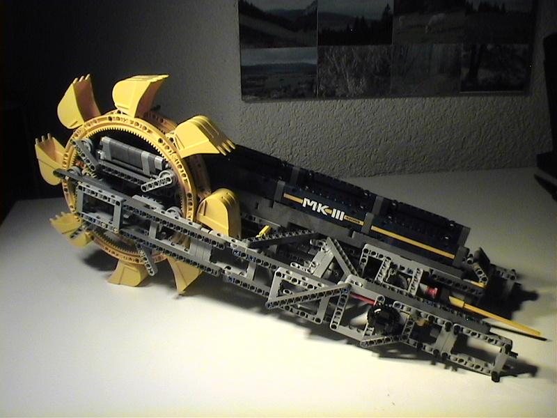 Der Schaufelradbagger von LEGO-Technik gebaut von Alo  Dvc04524