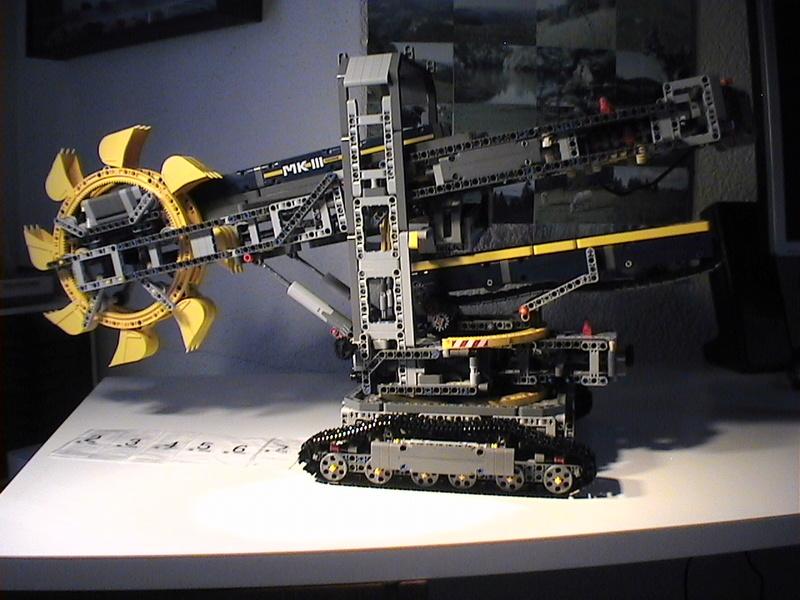 Der Schaufelradbagger von LEGO-Technik gebaut von Alo  Dvc04533