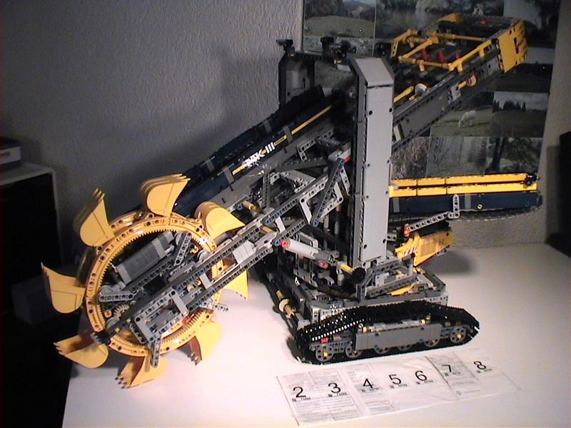 Der Schaufelradbagger von LEGO-Technik gebaut von Alo  Dvc04538