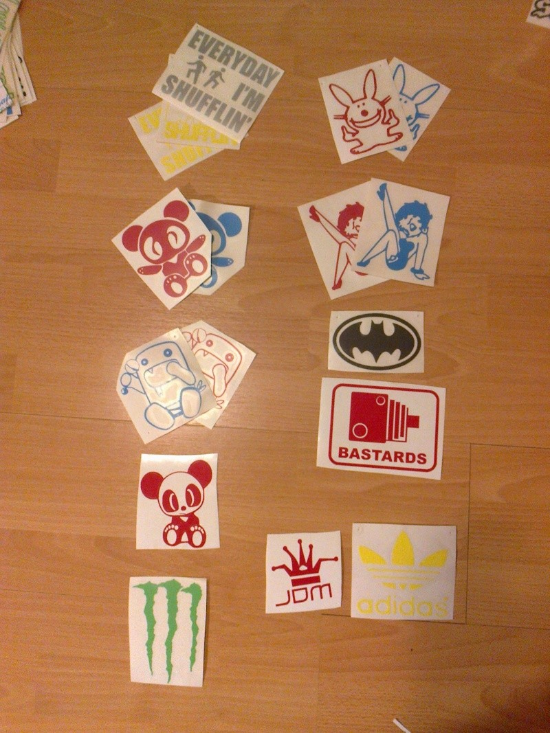 Assorted Stickers For Sale *Updated* 04/10/12 New Designs 6 for €10 posted. Photo025