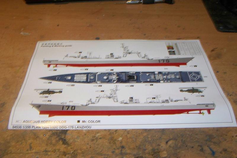 PLA Navy Type 052C DDG-Lanzhou von Trumpeter in 1:350 103_3914
