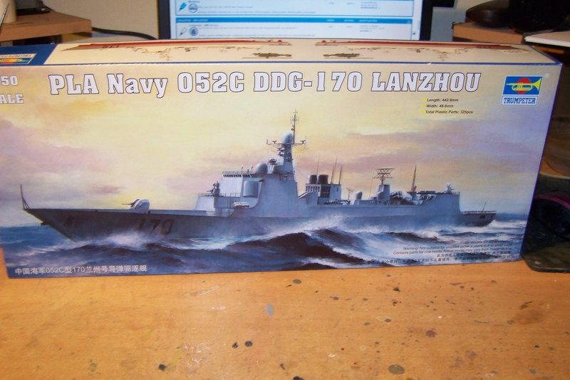 PLA Navy Type 052C DDG-Lanzhou von Trumpeter in 1:350 103_3916