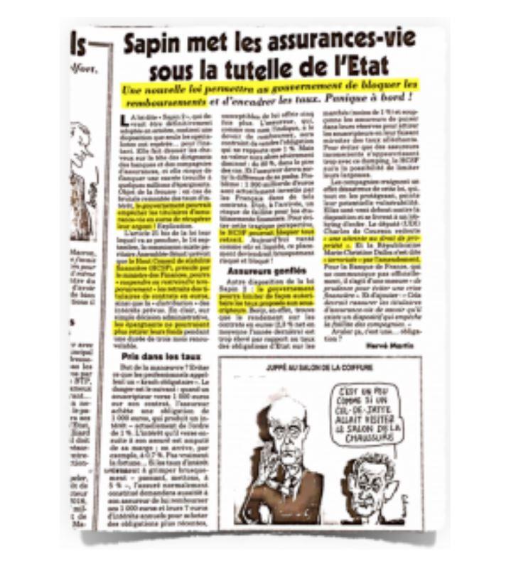 Hold-Up de l'Assurance Vie : les Révélations du Canard Enchaîné Captur13