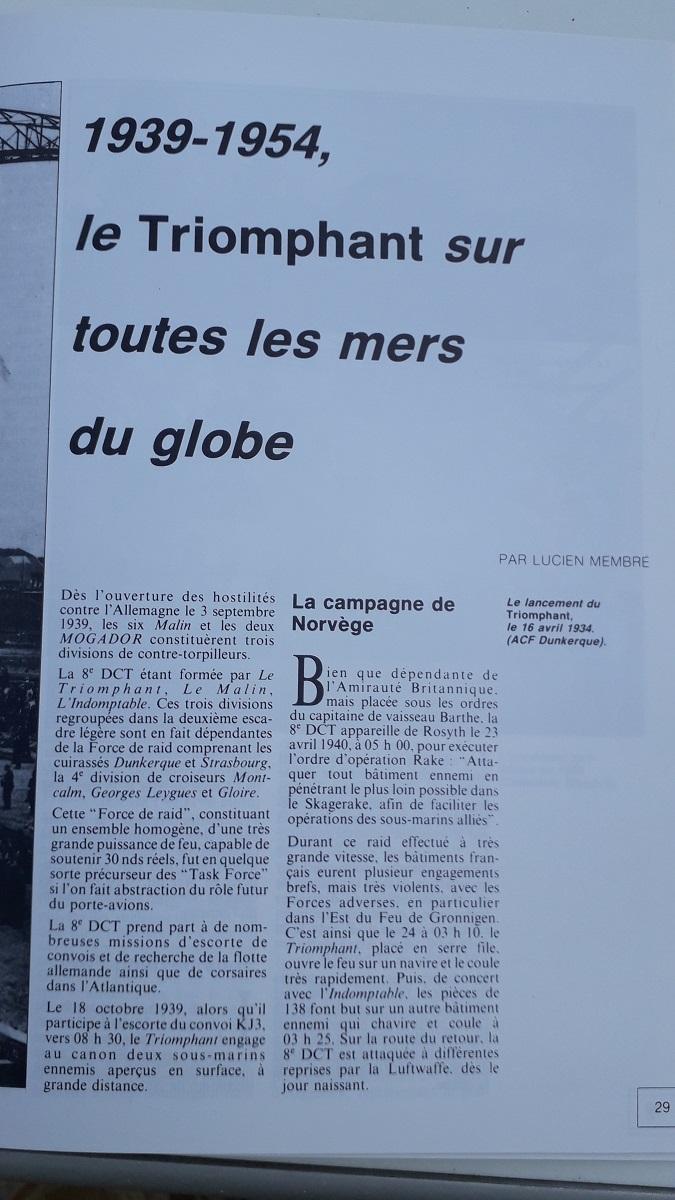 [ Blog visiteurs ] Recherche l'histoire détaillée du Triomphant juin 1940 quittant la France à destination de Plymouth 20210629