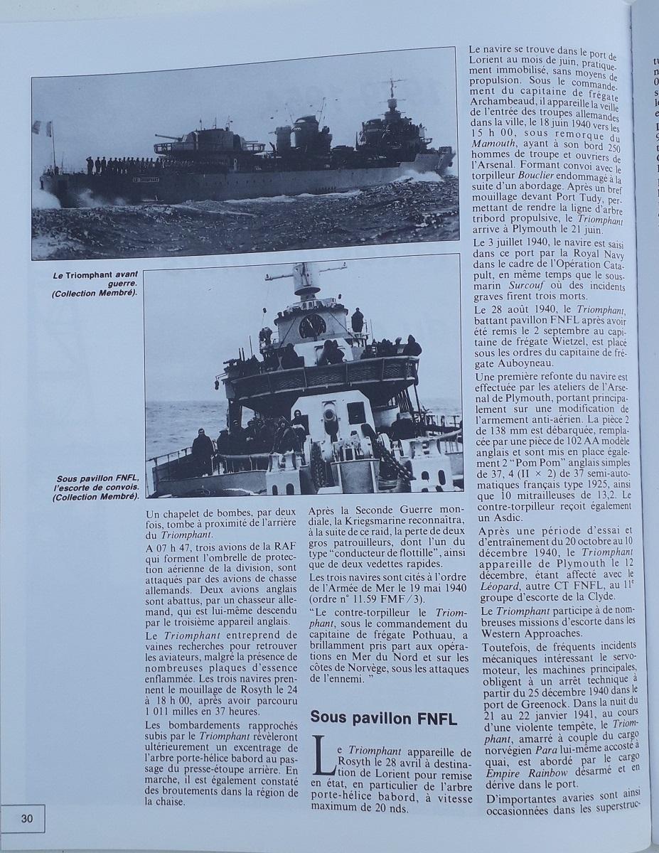 [ Blog visiteurs ] Recherche l'histoire détaillée du Triomphant juin 1940 quittant la France à destination de Plymouth 20210630