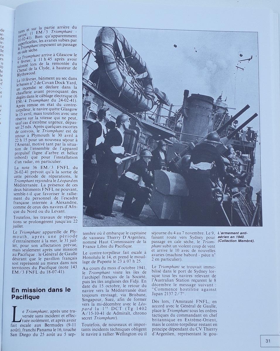 [ Blog visiteurs ] Recherche l'histoire détaillée du Triomphant juin 1940 quittant la France à destination de Plymouth 20210631