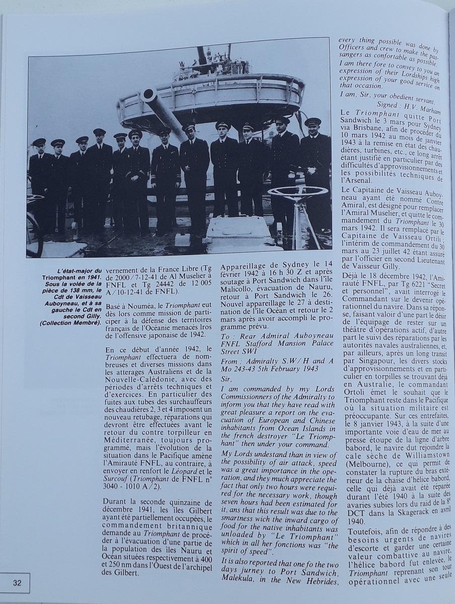 [ Blog visiteurs ] Recherche l'histoire détaillée du Triomphant juin 1940 quittant la France à destination de Plymouth 20210633