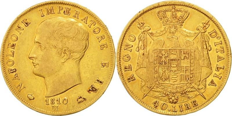 """Poids monétaire pour """"40 lire"""" Napoléonides 47232_10"""