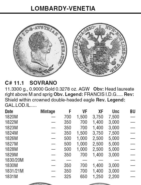 """Poids monétaire """"demi-Souverain d'or"""" pour le Royaume de Lombardie-Vénétie ... Sovran10"""