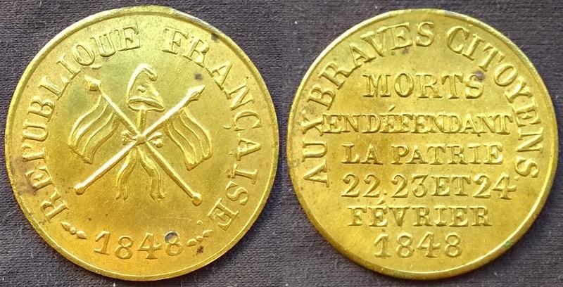 Médaille  révolutionnaire 1848  Wp_20125