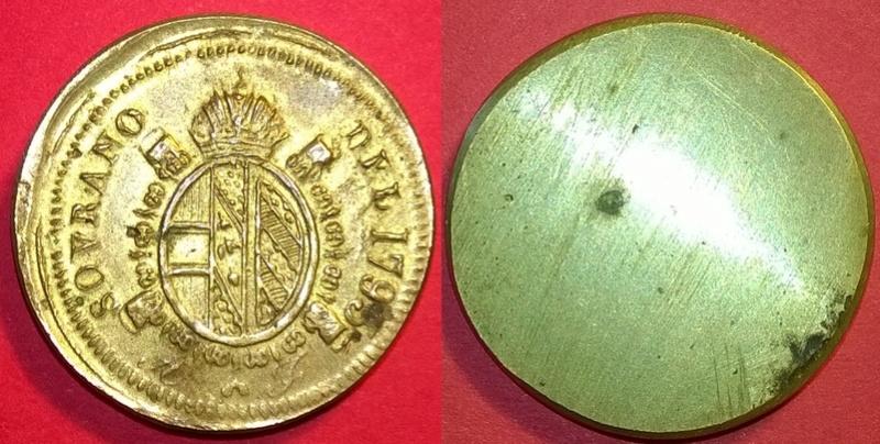 Poids monétaire Souverain d'Or François II, Milan, Lombardie Wp_20158