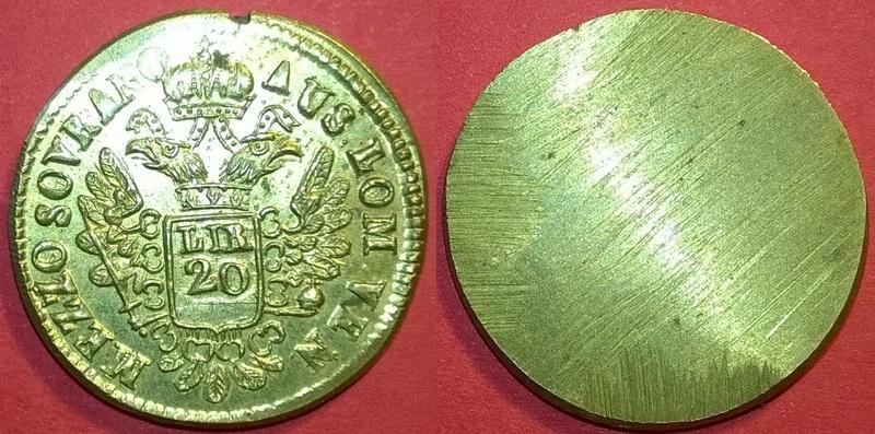 """Poids monétaire """"demi-Souverain d'or"""" pour le Royaume de Lombardie-Vénétie ... Wp_20165"""