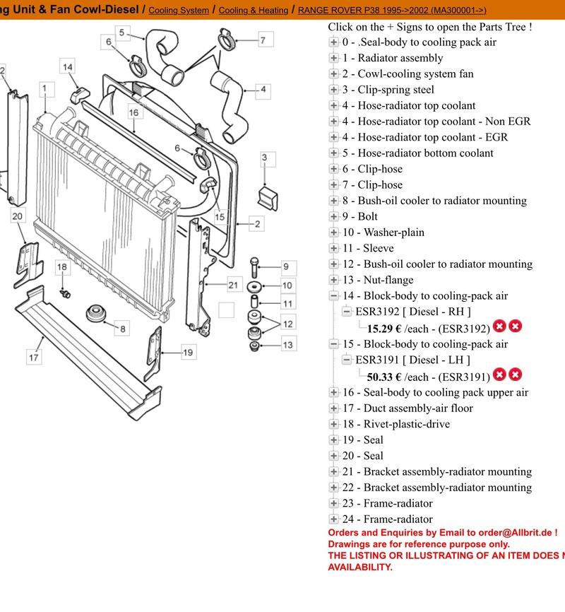 montage radiateur refroidissement moteur 2.5 diesel  Image57