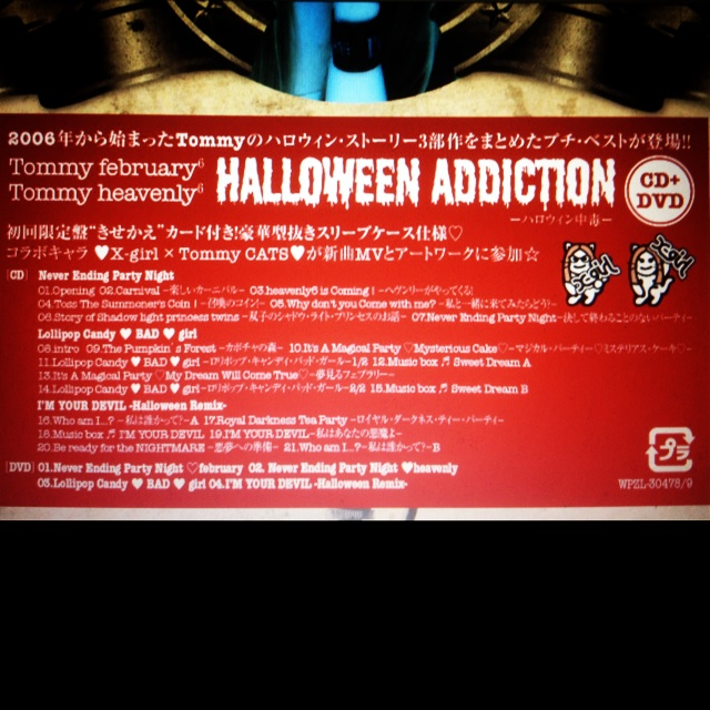 "Tommy  New CD ""Halloween Adiction"" ♥ 21x6z10"