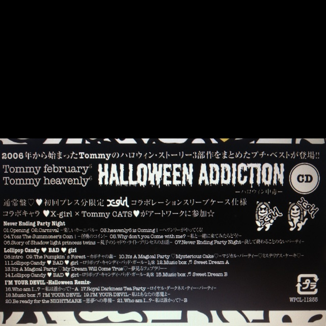 "Tommy  New CD ""Halloween Adiction"" ♥ B6cet10"