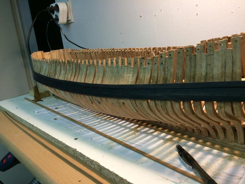 l'amarante corvette de 1747  sur plan de Mr Delacroix  - Page 6 Img_1019