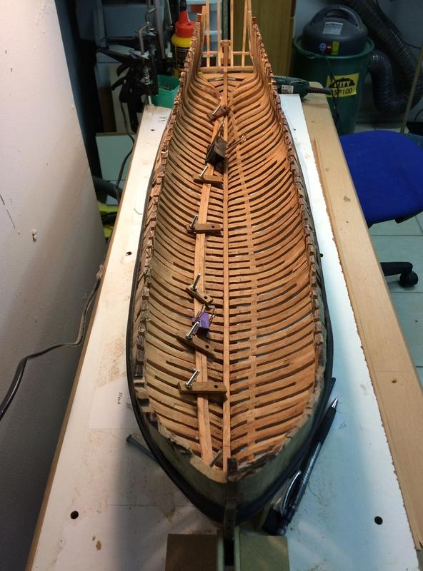l'amarante corvette de 1747  sur plan de Mr Delacroix  - Page 6 Img_1020