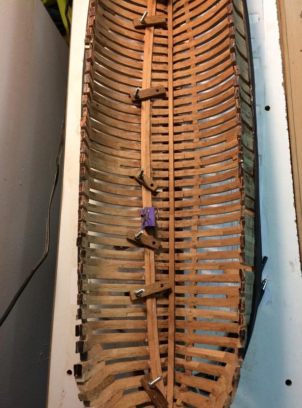 l'amarante corvette de 1747  sur plan de Mr Delacroix  - Page 6 Img_1021