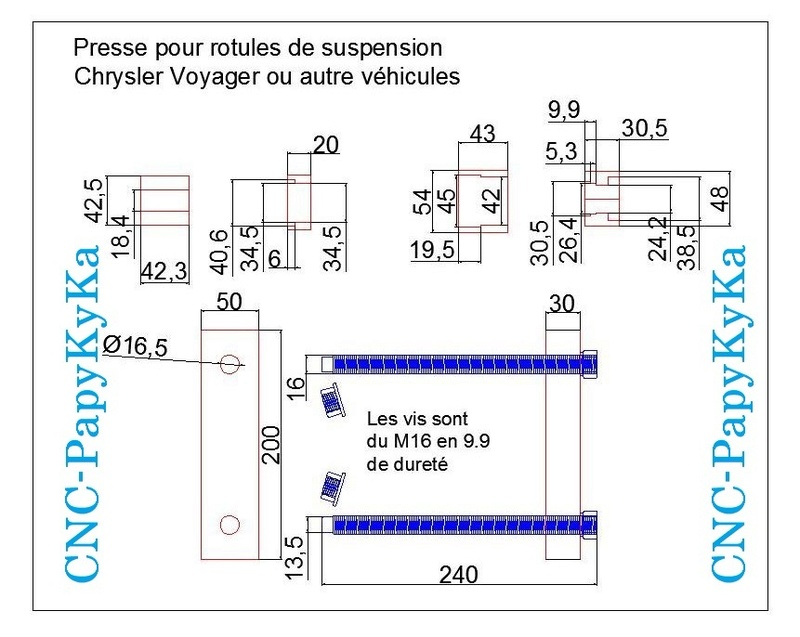 Train avant, démontage et révision, Frein, roulement, rotule, transmission.... - Page 2 Plans_11