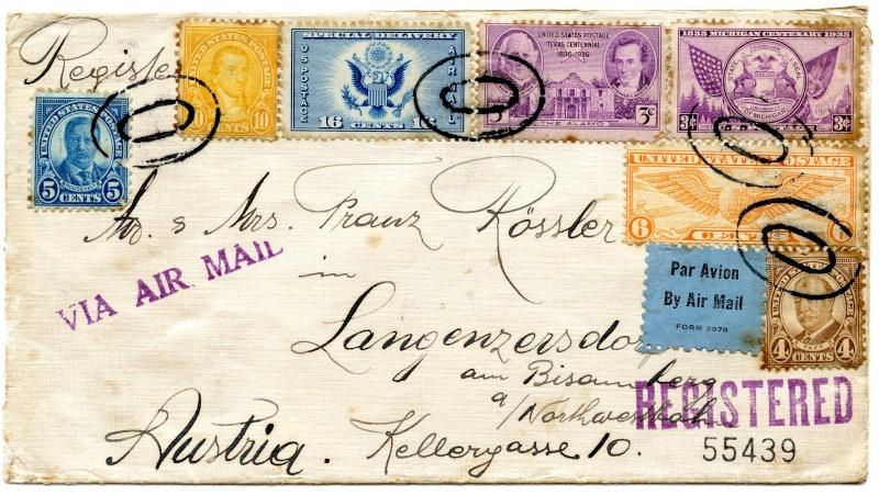Lufpostbrief Amerika nach Österreich Img48711