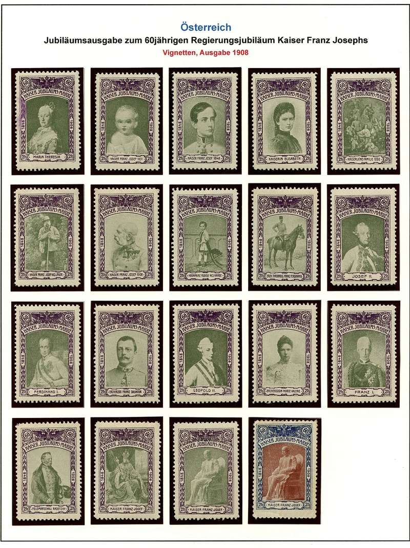 Die Freimarkenausgabe 1908 Jubily10