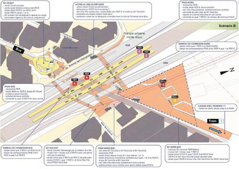 Restructuration dans un rayon de 400 m autour de la nouvelle gare du Val de Fontenay Val_de10