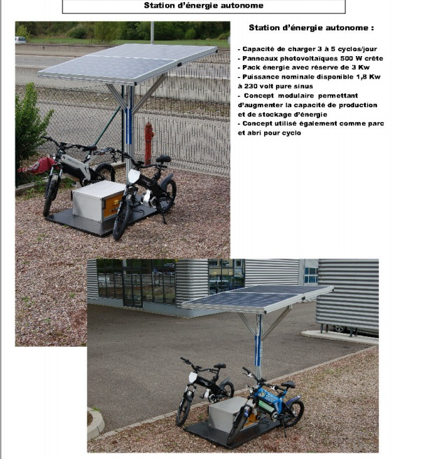 vente d'etricks et rechargement solaire Statio10