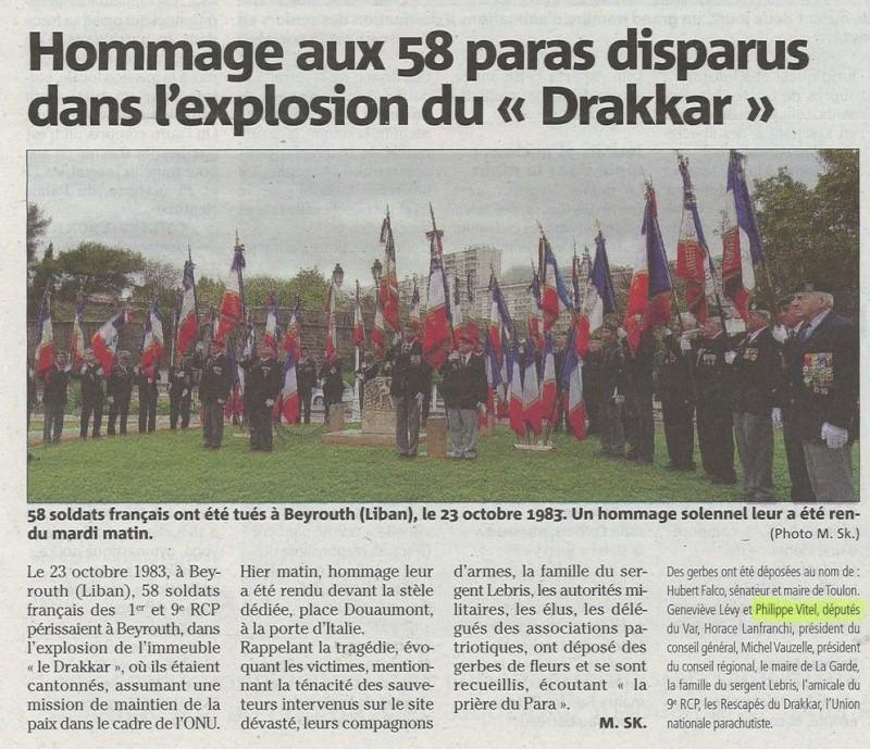 DARAKKAR -29e commémoration du sinistre attentat contre le PC du 1er RCPeublee DRAKKAR  Drakka13