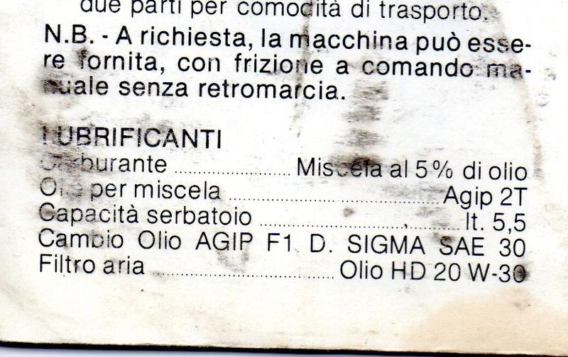 Sostituzione olio cambio motozappa Benassi BL85 Img02411