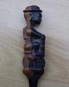 carved letter opener soldier on motor bike  P1070017