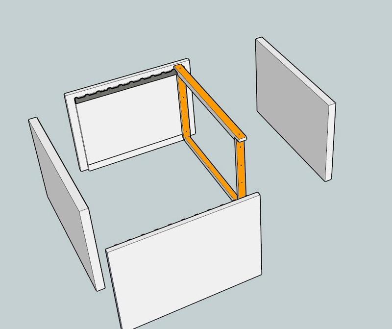 Plans et cotations d'une ruche Dadant 10 cadres A111