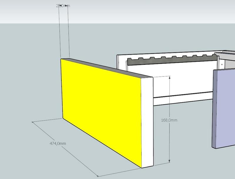Plans et cotations d'une ruche Dadant 10 cadres A212