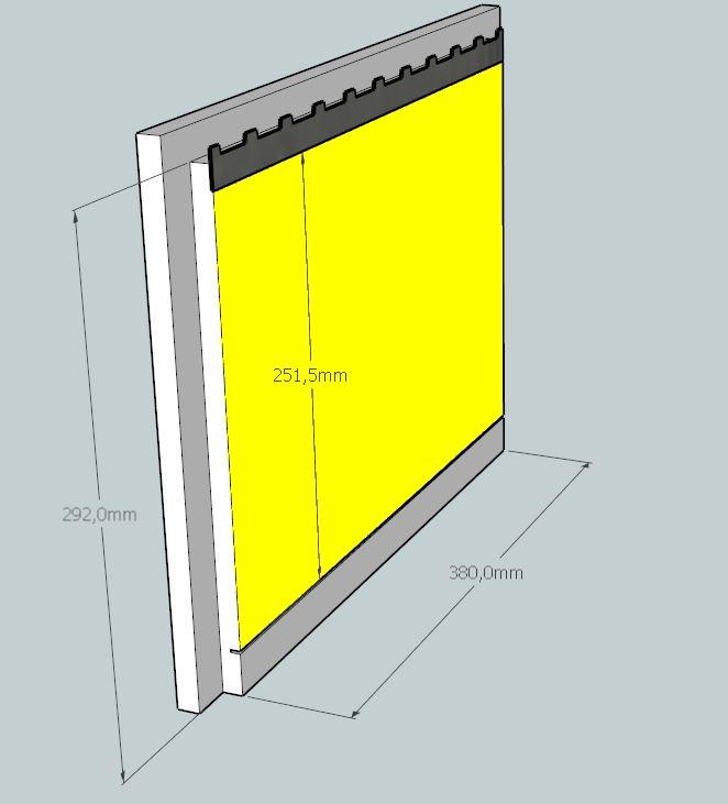 Plans et cotations d'une ruche Dadant 10 cadres A410