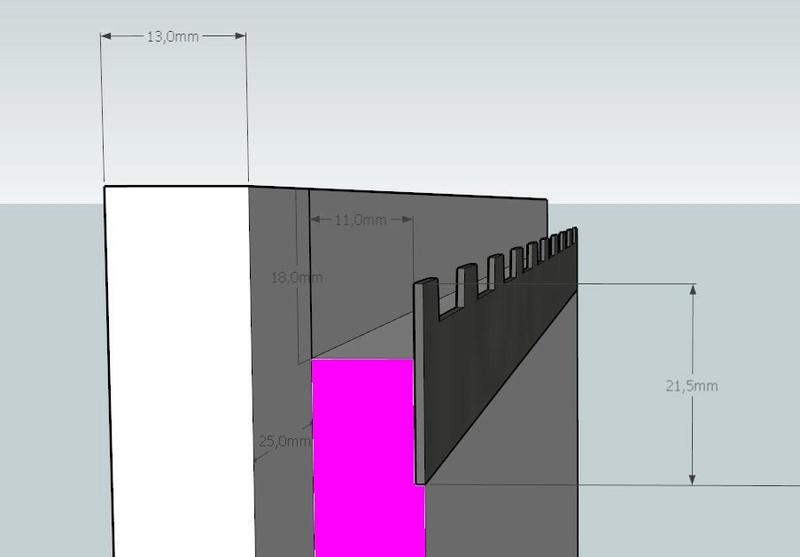 Plans et cotations d'une ruche Dadant 10 cadres A412