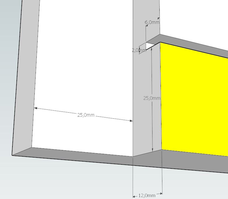 Plans et cotations d'une ruche Dadant 10 cadres A610