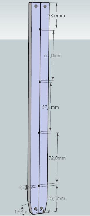 Plans et cotations d'une ruche Dadant 10 cadres A711