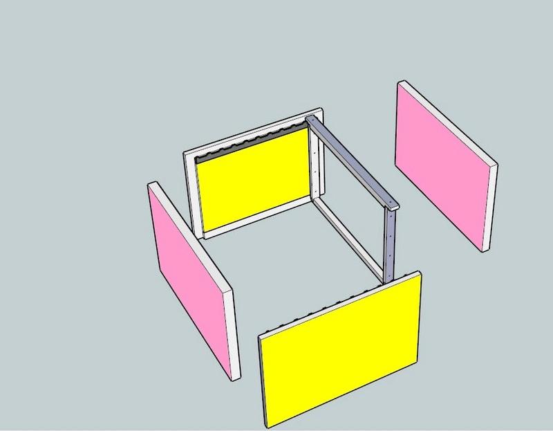 Plans et cotations d'une ruche Dadant 10 cadres A810