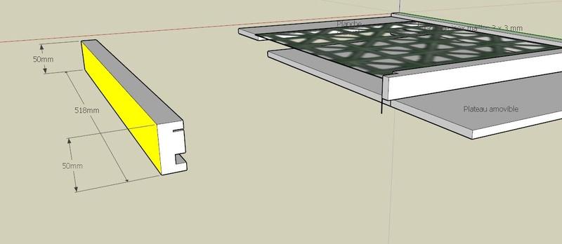 Plans et cotations d'une ruche Dadant 10 cadres B111